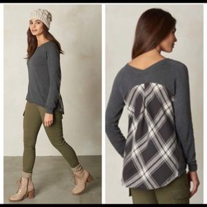 Prana Gray natalia organic cotton sweater